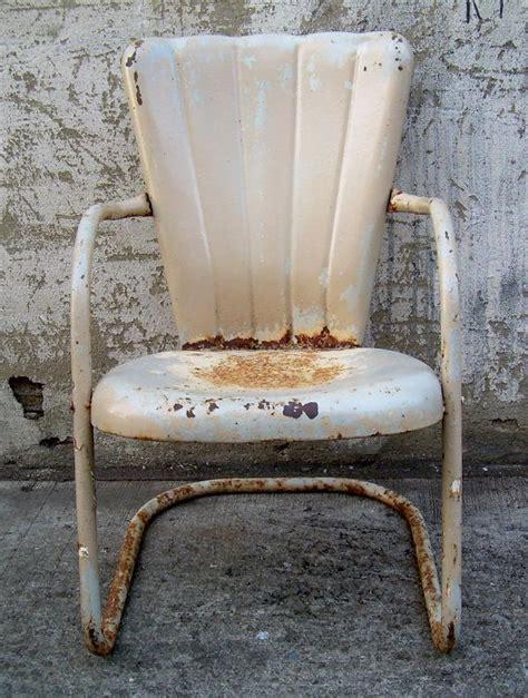 retro metal lawn chair vintage porch furniture
