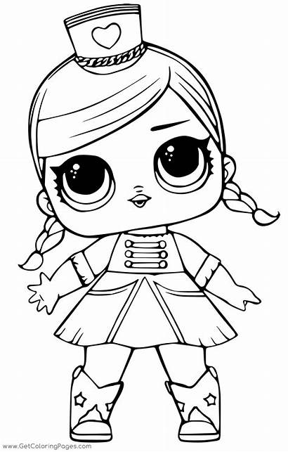 Lol Doll Coloring Pages Surprise Queen Kitty