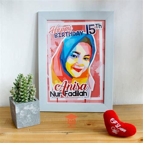 toko pop art birthday hijab wpap murah kado wisudaku