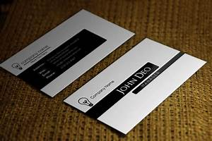 Free black and white business card template for White business cards