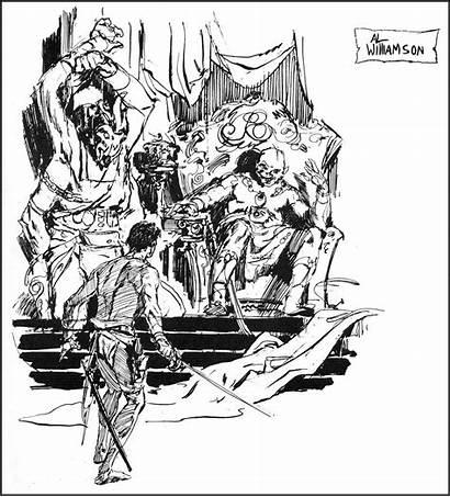 Williamson Al Barsoom Comics Comic Sketches Blacknwhite