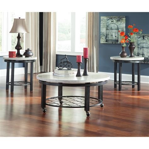 3 piece occasional table sets (6) 3 piece sets (12) abaco (2) abby (1)see all. Signature Design by Ashley Shanileigh 3 Piece Coffee Table Set at Hayneedle
