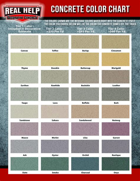 concrete color options real help concrete company buffalo new york