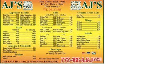 Job chef at ajs fine foods. Aj's Pizza & Pub - Fort Pierce, FL - Yelp