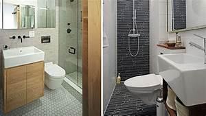 20 idees deco pour les petites salles de bains diaporama With carrelage adhesif salle de bain avec lampe de bureau led blanche