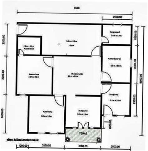 pilihan denah rumah  kamar  desain terbaik fimell