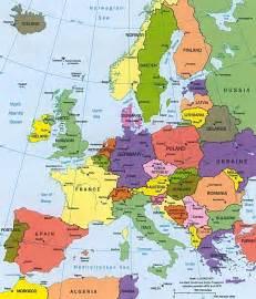 Ireland and Europe Map