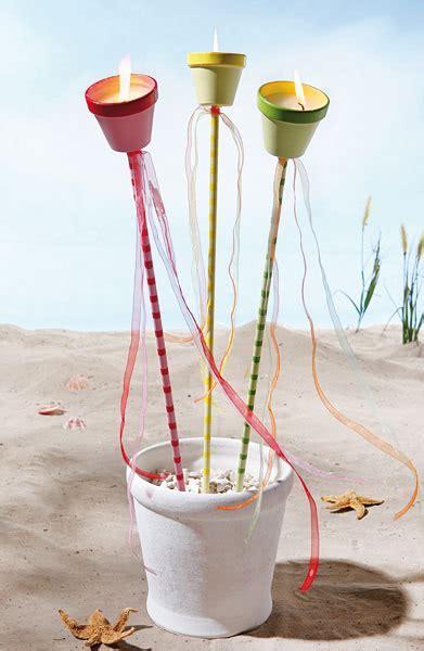 kreativtipp dekorative fackeln buttinette bastelshop