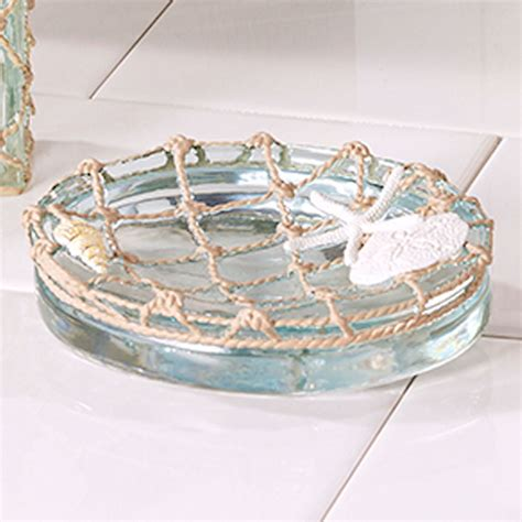 sea glass resin coastal bath accessories sea glass