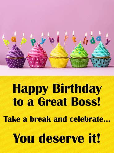 rainbow cupcake happy birthday card  boss birthday