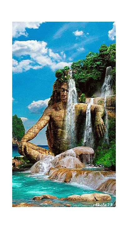 Amazing Waterfall Fantasy Nature 3d Wow Cool