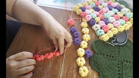 Puffblumen Decke Häkeln Anleitung Youtube