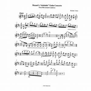 Mozart - New Cadenzas for all Mozart Violin Concertos, Nos ...