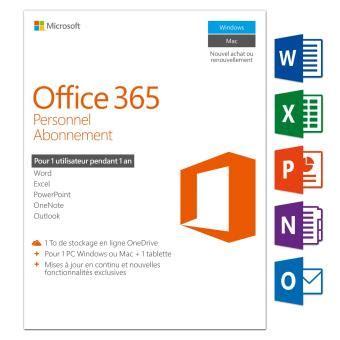 ordinateur de bureau fnac office 365 personnel 1 pc windows mac 1 tablette