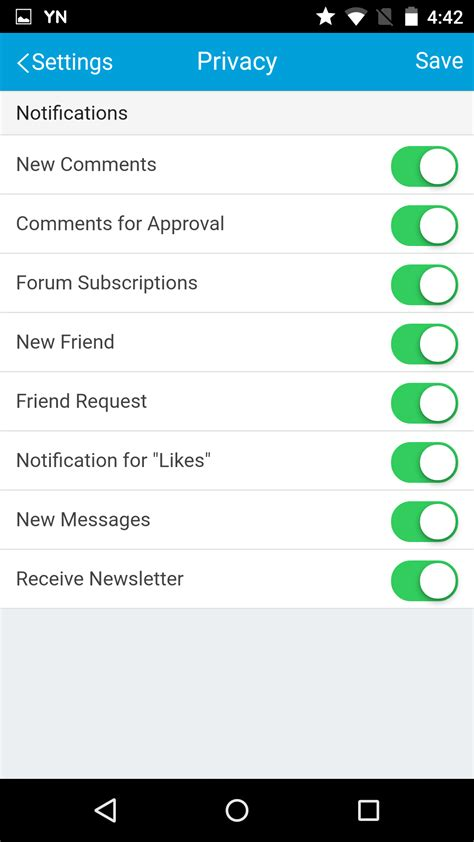 android notification settings product upgrade mobile application 4 02 released