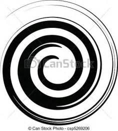 Spiral Line Clip Art Black and White