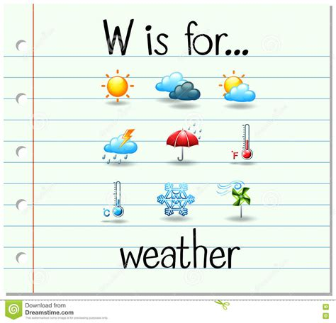 letter w is for walk stock vector image 71024801 flashcard letter w is for weather stock vector image