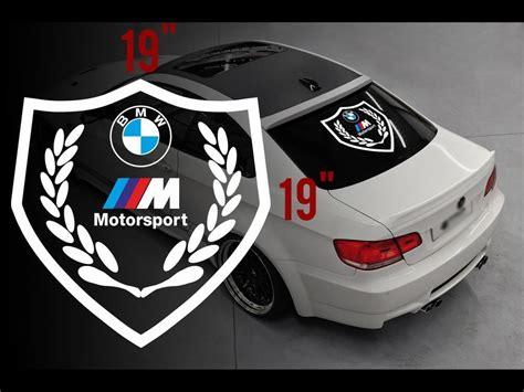Product Bmw Motorsport M Logo Rear Window Vinyl Stickers