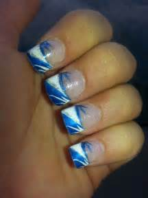 Blue and White Nail Design