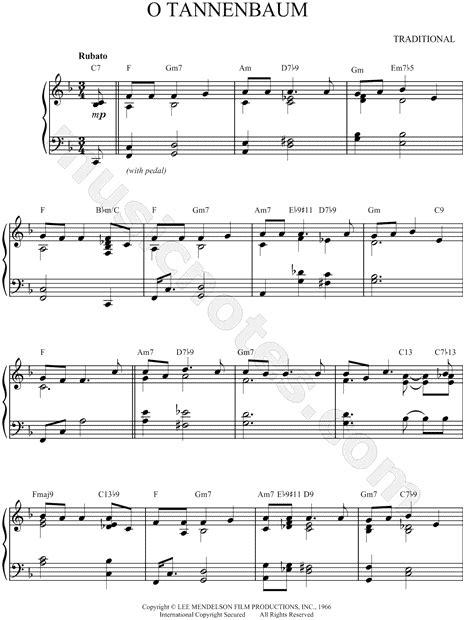 vince guaraldi trio o tannenbaum vince guaraldi trio quot o tannenbaum quot sheet music piano solo