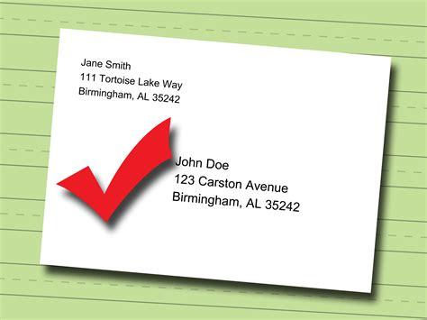 write  professional mailing address   envelope
