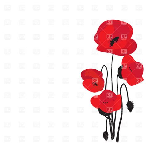 free vector clipart poppy border clipart clipart suggest