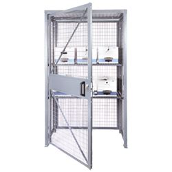 assembled kitchen cabinets wire cage storage locker loss prevention security cabinets 4196