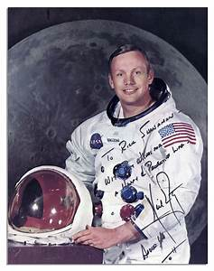 Lot Detail - Neil Armstrong Signed Photo