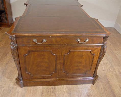 office bureau chippendale mahogany partners desk desks office