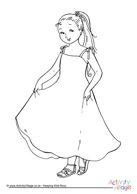 girl colouring page