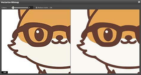 Additionally you can select digital effects to enhance the image. Vectorize bitmaps in Photopea!