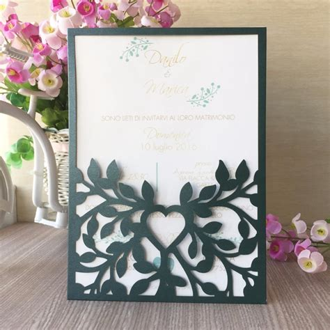 50pcs Birthday Engagement Wedding Invitations Card Pocket