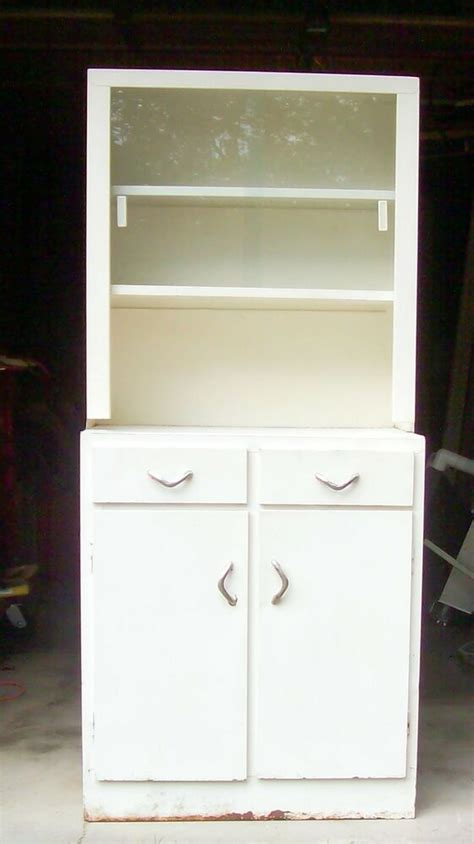 White Metal Cabinet vtg white metal cabinet glass industrial kitchen