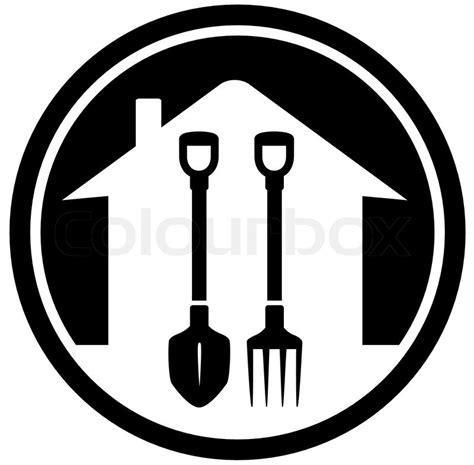 black garden landscaping icon  shovel