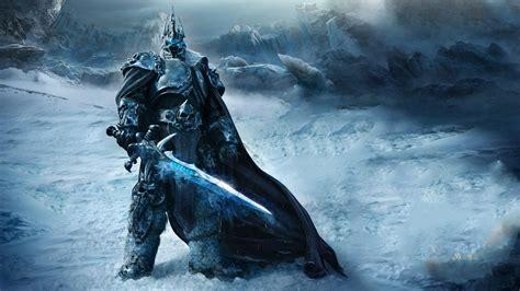 full hd wallpaper world  warcraft necromancer knight ice