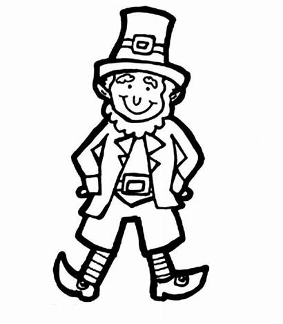 Leprechaun Coloring Drawing Clipart Costume Parade Pages