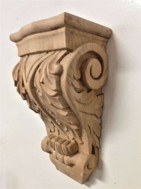 Carved Wood Corbels by Carved Cherry Wood Corbel Acanthus Leaf Design Stain