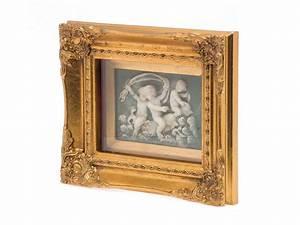 Tableau En Relief : tableau en relief avec cadre motif angelots style ~ Melissatoandfro.com Idées de Décoration