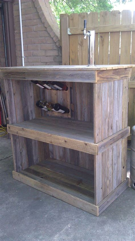 fence board bar recycled fence boards pinterest