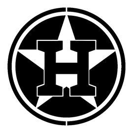 mlb houston astros logo stencil  stencil gallery
