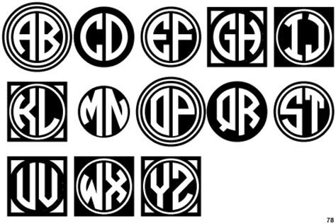 identifont circle monograms  black