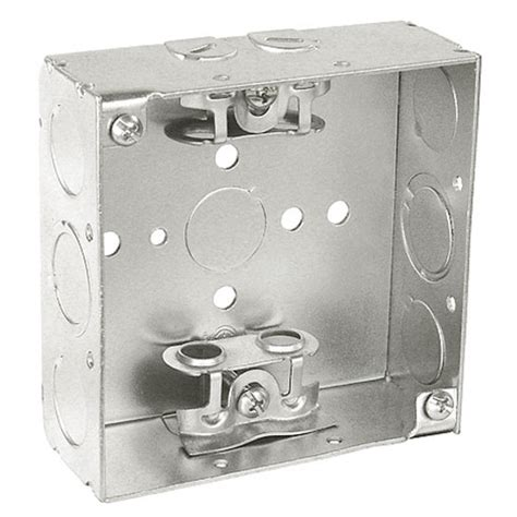 electrical junction box cover 4 square junction box 1 1 2 in with bx cls 7040