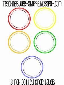 the teaching sweet shoppe dotted circle labels With 3 5 circle labels