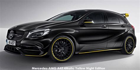 Unveiled in 2019, it slots above the amg. Mercedes-AMG A-Class A45 4Matic Yellow Night Edition Specs in South Africa - Cars.co.za
