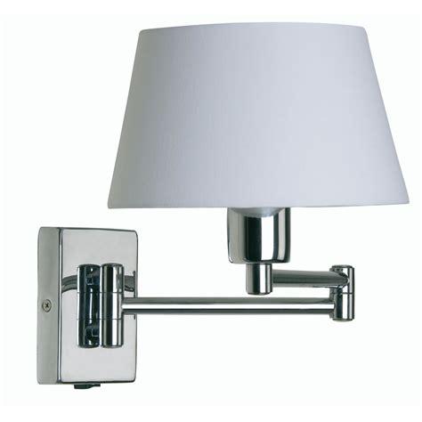 armada 1x60w swing arm wall light in chrome oaks