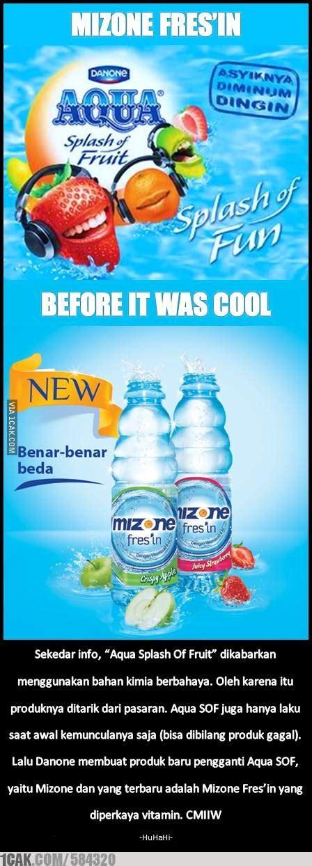 ingat  aqua splash  fruit tidak bermaksud
