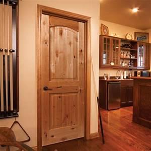 Sierra knotty alder wood interior doors, french doors