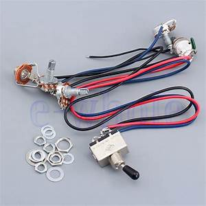Wiring Harness 2 Volume 2 Tone For Dual Humbucker 3 Way Switch 500k Pots Be