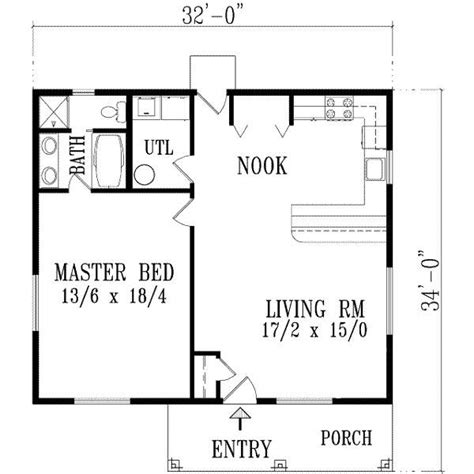 Exceptional One Bedroom Home Plans #10 1 Bedroom House