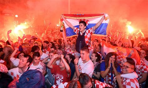 See How Fans Celebrated Croatia World Cup Semifinal Win